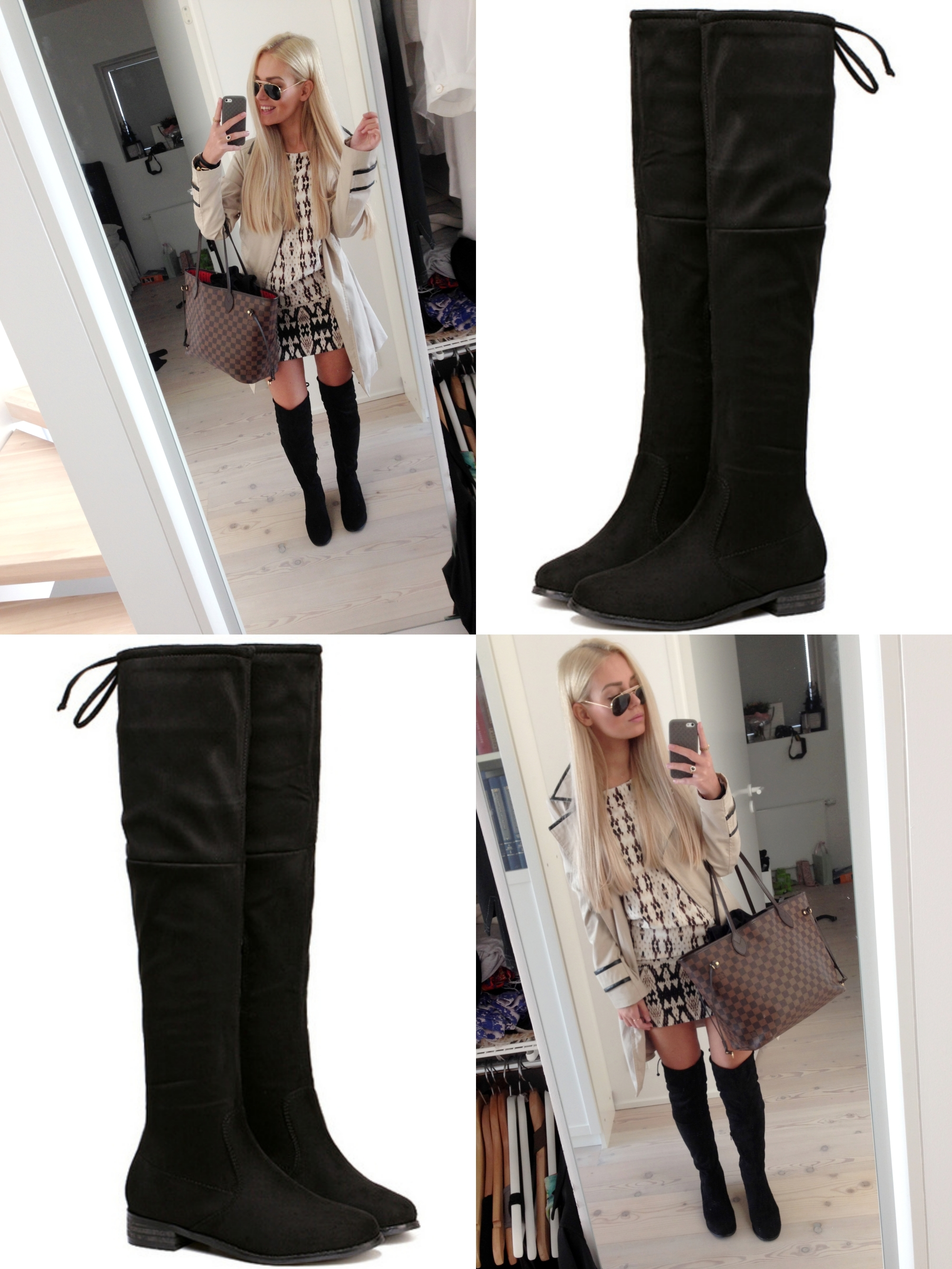 over the knee boots utan klack